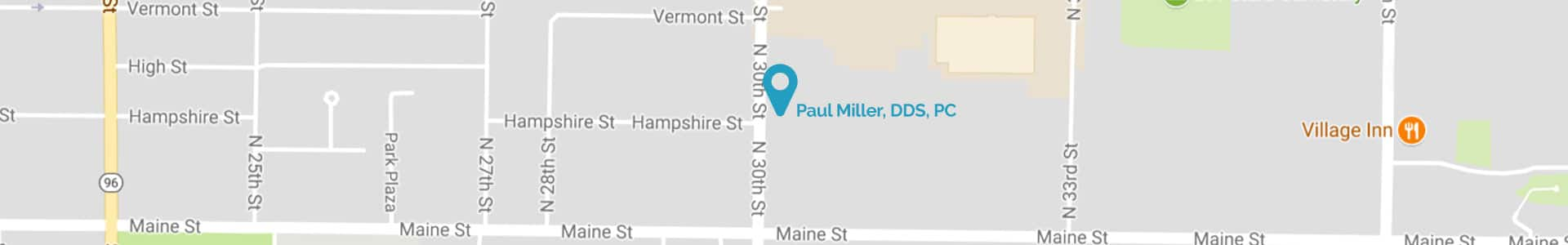 Map Paul E. Miller, DDS, PC Quincy, IL